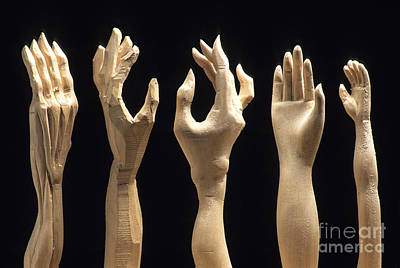 Hands Of Wood Puppets Poster by Bernard Jaubert