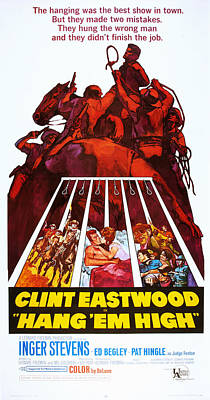Hang Em High, Clint Eastwood, 1968 Poster
