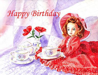 Happy Birthday Poster by Irina Sztukowski
