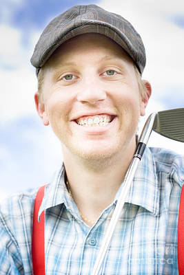 Happy Golfer Poster by Jorgo Photography - Wall Art Gallery
