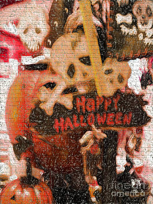 Happy Halloween Poster by Gillian Singleton