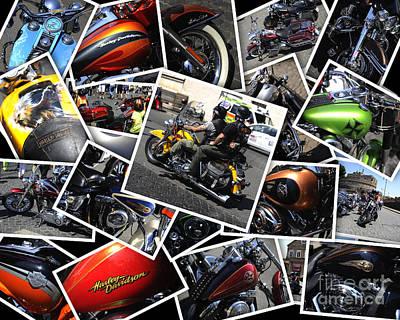 Harley Davidson Anniversary In Rome Poster