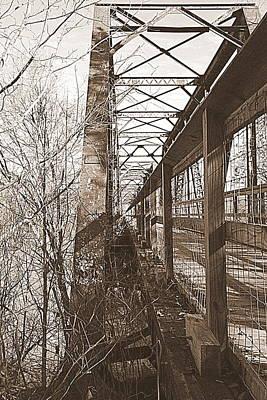 Harry Easterling Bridge Peak Sc Sepia Poster