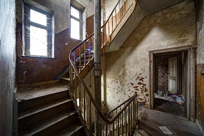 Haunted Staircase Urban Exploration Poster by Dirk Ercken