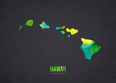 Hawaii The Islands Of Aloha Poster by Aged Pixel