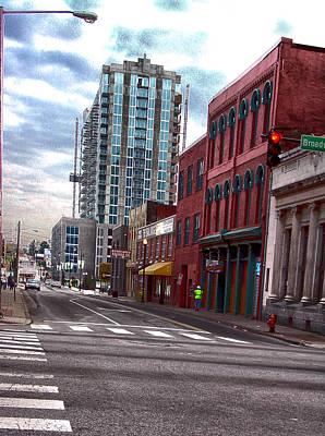 Hdr Street Photography Nashville Tn Poster by Lesa Fine