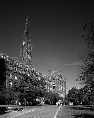 Healy Hall On The Campus Of Georgetown University Poster