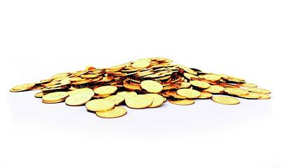Heap Of Golden Coins Poster by Sebastian Kaulitzki
