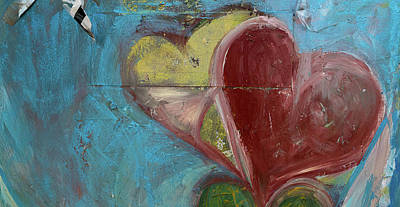 Heart Shape Painted On A Wall, Safed Poster