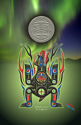 Heiltsuk Black Bear The Strength In Me Poster by Fred Anderson jr