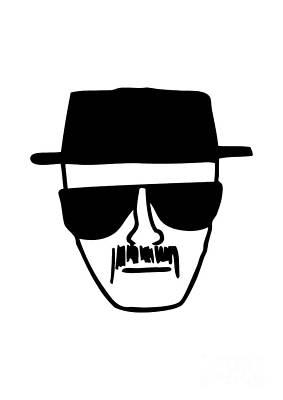 Heisenberg Breaking Bad Poster by Caio Caldas