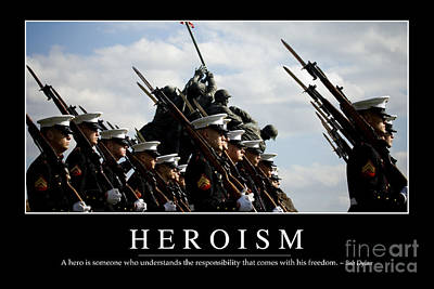 Heroism Inspirational Quote Poster