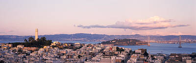 High Angle View Of A City, Coit Tower Poster by Panoramic Images