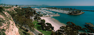 High Angle View Of A Harbor, Dana Point Poster