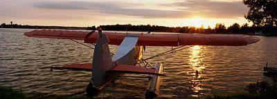 High Angle View Of A Sea Plane, Lake Poster