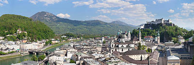 High Angle View Of The Old Town Poster by Panoramic Images