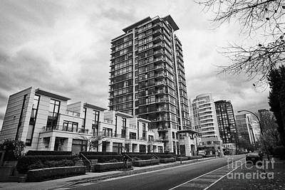 high rise apartment condo blocks in the west end alberni street coal harbour Vancouver BC Canada Poster by Joe Fox