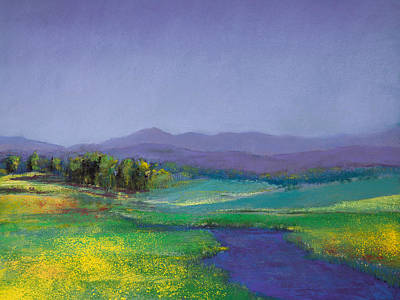 Hills In Bloom Poster by David Patterson