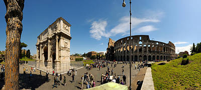 Historic Coliseum And Arch Poster by Panoramic Images