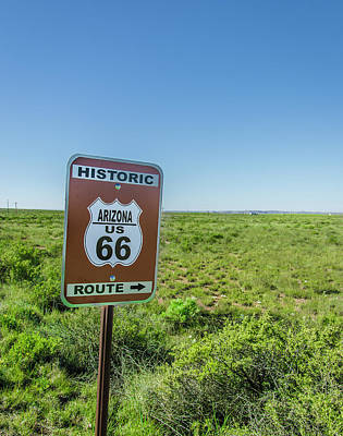 Historic Old Route 66 Passed Poster