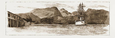H.m.s. Comus At Burrard Inlet, The Present Terminus Poster by Litz Collection
