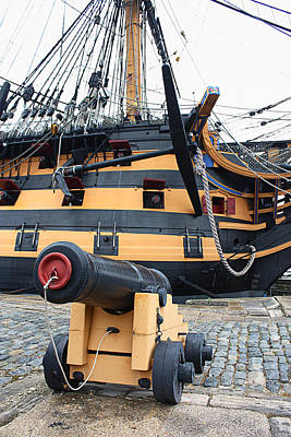 Hms Victory Poster by Graham Custance