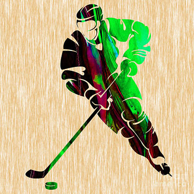 Hockey Poster by Marvin Blaine
