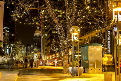 Holiday Lights In Denver Colorado Poster