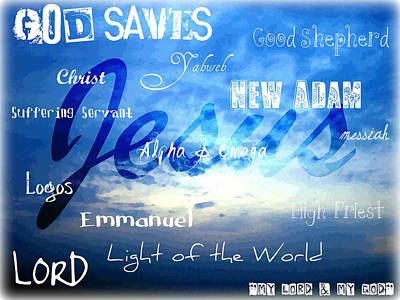 Holy Name Of Jesus Poster by Sharon Soberon