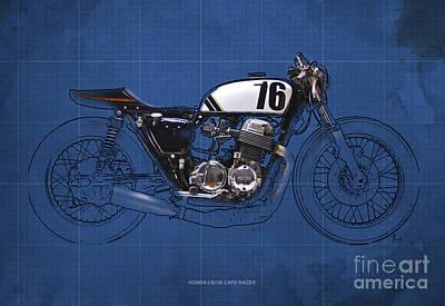 Honda Cb750 Cafe Racer Poster by Pablo Franchi