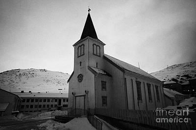 Honningsvag Kirke Church Finnmark Norway Poster by Joe Fox