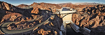 Hoover Dam From Bridge, Lake Mead Poster