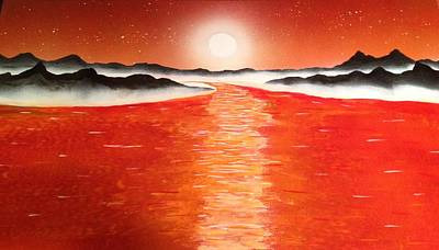 Poster featuring the painting Horizon by Michael Rucker