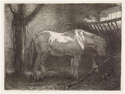 Horse In Stable, Jan Vrolijk Poster by Jan Vrolijk
