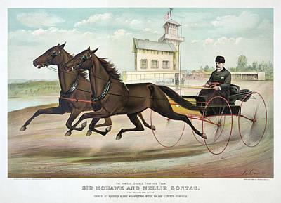 Horse Racing, C1889 Poster
