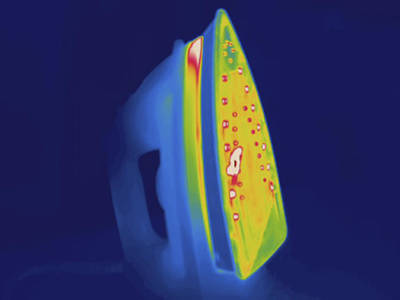 Hot Iron, Thermogram Poster