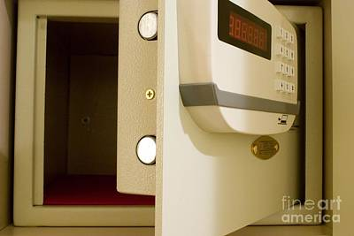 Hotel In-room Safe With Open Door Poster by Mark Williamson