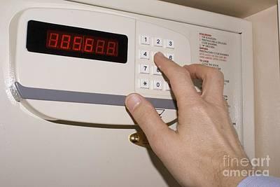 Hotel Safe Keypad Poster by Mark Williamson