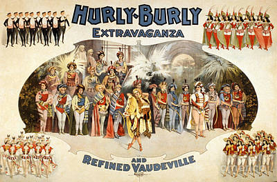 Hurly-burly Extravaganza Poster by Photo Researchers