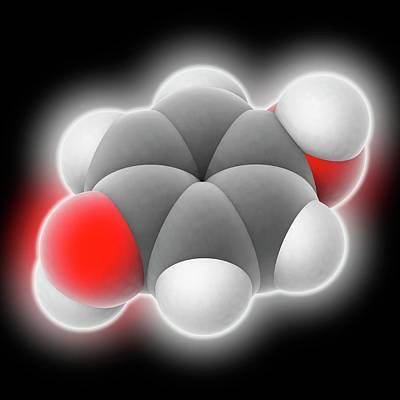 Hydroquinone Molecule Poster