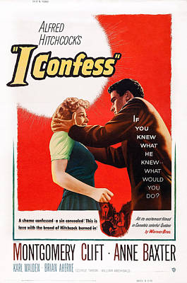 I Confess, From Left Anne Baxter Poster by Everett