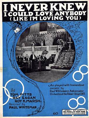 I Never Knew I Could Love Anybody Poster by Mel Thompson
