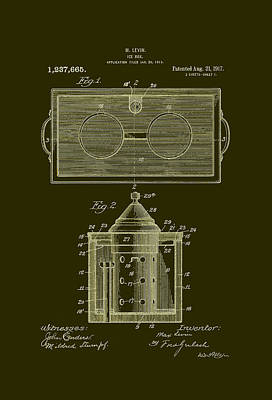 Ice Box Patent 1917 Poster