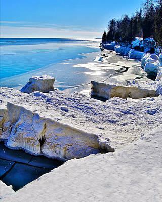 Ice-berg Door County Wisconsin Poster by Carol Toepke