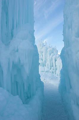 Ice Sculptures At Zermatt Resort Poster by Howie Garber
