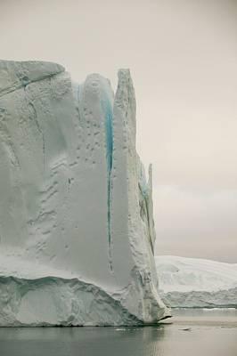 Icebergs From The Jakobshavn Glacier Poster by Ashley Cooper