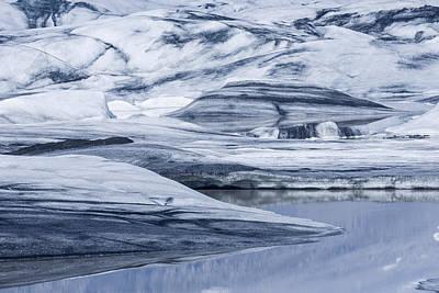 Icebergs, Hoffellsjokull Glacier Poster