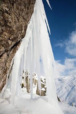 Icefall Poster by Ashley Cooper