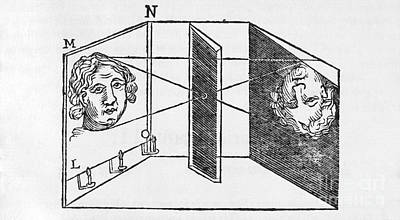 Illustration Of A Camera Obscura Poster by Middle Temple Library
