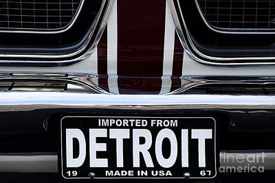 Imported From Detroit Poster by Dennis Hedberg